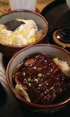 デミカツ丼&カツ丼