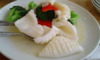 イカとカリフラワーの塩味炒め