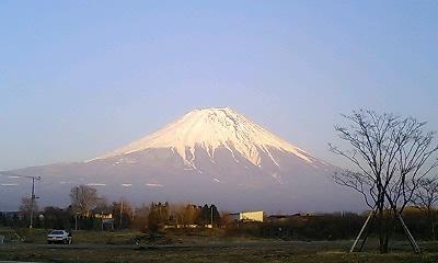 朝霧高原より富士山を望む